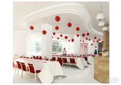 """Банкетный зал """"Алсу"""" (вариант 2) в Донецкой обл.: интерьер, восточный, марокканский стиль, ресторан, кафе, бар, 100 - 200 м2, зал #interiordesign #moroccan #restaurant #cafeandbar #100_200m2 #hall"""