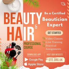 Have keen interest to fulfill your dreams of a glorious career in beauty sector? Then what are you waiting for? Join Professional Beauty and Hair Course offered by OTE - Online Training & Education app/website through live training, practical, video classes and excel in the beauty industry by enhancing your beauty and hair styling skills. Course Offering, Training Courses, Google Play, App, Beauty Industry, Education, Website, Waiting, Career