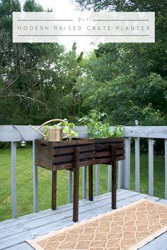 Modern Raised Crate Planter