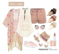 """""""Nude Style"""" by strawberryoghurt on Polyvore featuring Melissa McCarthy Seven7, Erdem, adidas Originals, Fendi, Maison Michel, Rimmel, Urban Decay, FOSSIL and plus size clothing"""