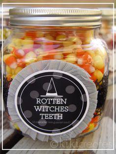 kiki creates: Halloween Treat Jars {Free Download}