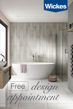 Book your free design appointment at Wickes today. With a wide range of stunning bathrooms to choose from, we're here every step to help create your dream space; from inspiration to installation.