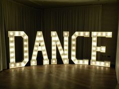 HUGE 1930's style personalised letters, names - wedding dance floor decoration