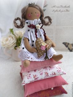 Beautiful Dolls, Art Dolls, Sewing Projects, Teddy Bear, Textiles, Christmas Ornaments, Holiday Decor, Handmade, Animals