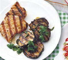 Halibut With Grilled Eggplant Salad