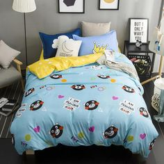 Home Textiles,hip hop bears pattern bedding sets 3/4Pcs of duvet cover bed sheet pillowcase King queen full twin size