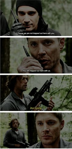 supernatural 12x09: First Blood<< This scene gave me the chills, it really shows the boys' darker side