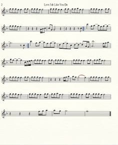 Musical Mania: Love Me Like You Do by Ellie Goulding Violin Sheet Music