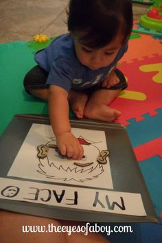 12 Month Old Tot School Activities - Body Parts Week - The Eyes of a Boy