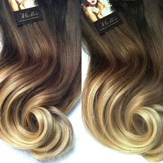 ★´¨) ¸.•´ ¸.•*´¨)¸.•*¨) (¸.•´ (¸.•`★ MALIBU BLONDE OMBRE // CHESTNUT BROWN + BEIGE BLONDE The finest quality 100% human hair extensions. 5 Star Remy