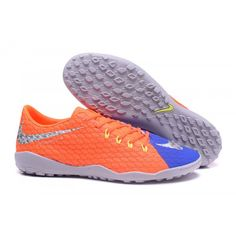 finest selection 0c12b 32f7a 2017 Nike Hypervenom Phelon III TF Botas De Futbol Naranja Azul Gris Nike  Football Boots,