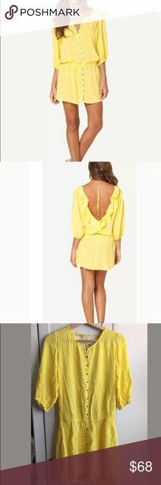 5333967ea4 NWT Sofia By Vix Yellow Swim Cover Up Dress Crisp and light, yellow shades  warm