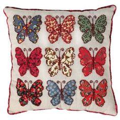 Patchwork Butterflies Cushion
