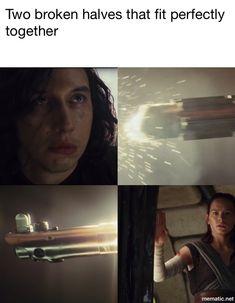 Broken Pieces Star Wars The Last Jedi Kylo Ren Ben Solo Rey Reylo #savebensolo #kyloren #reylo #thelastjedi #starwars #bensolo #kylo #rey #reyloisreal #reyloiscanon #lightsaber #thelastjedireylo