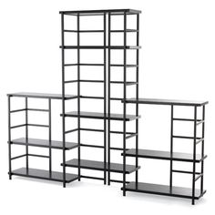 """Our Connections Shelving system is inspired by the elegantly simple lines of traditional Asian design.  Simply combine Connections Shelves with <a href=""""/s/shelving/black-connections-uprights/1d?productId=10025275"""">Connections Uprights</a> (sold separately, listed below) to create a solution that suits your needs.  From the home office to the den, this system offers easy, convenient storage anywhere you need it.  Assembly is a cinch - t..."""