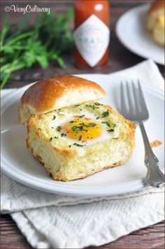 Eggs baked in sweet Brioche with herbs and Tabasco making this egg cup recipe seem elegant, but still super easy!