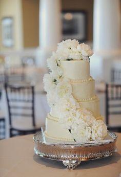 Cascading Floral Wedding Cake