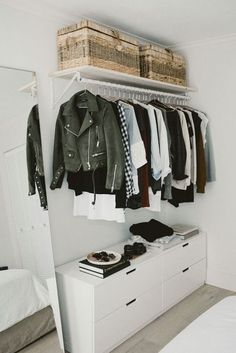 14 Ingenious Storage Tricks For A Small Bedroom With No Closets