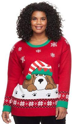 678958db9a8 Fashion Avenue Us Sweaters Plus Size Fashion Avenue US Sweaters Applique  Ugly Christmas Sweater