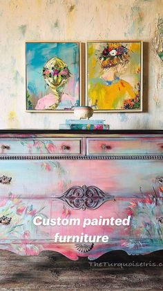 Whimsical Painted Furniture, Hand Painted Furniture, Funky Furniture, Refurbished Furniture, Colorful Furniture, Repurposed Furniture, Furniture Painting Techniques, Chalk Paint Furniture, Do It Yourself Furniture