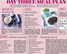 Day 3 Dukan diet meal plan