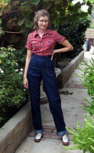 >Repro Jeans Project | Wearing History--not one of her patterns, but kind of perfect