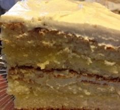 Rich Golden Cake - from a 40 year old cookbook! Still the best cake recipe EVER! #BirthdayCake #JudeTheFoodie.com