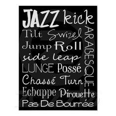 Sold - Jazz Dance Subway Art Poster