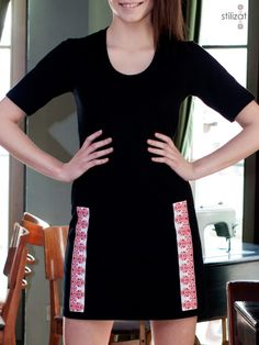 Rochie cu creste Urban, Modern, Clothes, Black, Dresses, Fashion, Outfits, Vestidos, Moda
