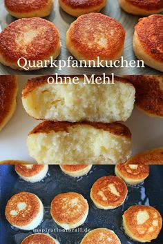 Quarkpfannkuchen ohne Mehl – einfaches & schnelles Rezept Russian syrniki in the pan simple recipe for curd cheese pancakes without wheat flour delicious for breakfast or dessert - also for children Rezepte Crock Pot Recipes, Quick Recipes, Quick Easy Meals, Baby Food Recipes, Cake Recipes, Dessert Recipes, Easter Recipes, No Calorie Foods, Low Calorie Recipes