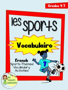 This is a collection of vocabulary lists and activities for a sports-themed unit in your upper elementary or middle school French class.  It includes:-vocab list-create your own flash cards-crossword puzzle (with answer key)-scrambled words puzzle (with answer key)-vocabulary quiz (matching quiz with answer key)This is perfect to introduce sports vocabulary with your Grade 4-7 students.---------------------------------------------------------------------------------------------Follow me for…