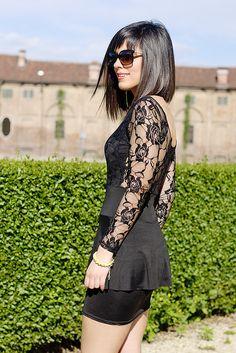 Lace Back Dress - OASAP!