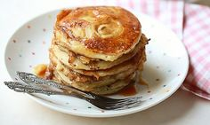 A kid-friendly breakfast, these pancakes use ripe bananas and are drizzled with a salted caramel sauce that is truly addictive.