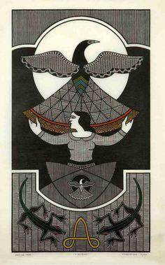 O Enigma, 1989 |  by Gilvan Samico.