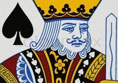 Spades king portrait close up | Stock Photo | Colourbox