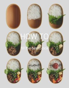 How to fill the bento box Steps for Japanese style bento box お弁当の詰め方 Bento Box Lunch For Adults, Japanese Bento Lunch Box, Japanese Food, Japanese Style, Japanese Meals, Japanese Sweets, Asian Recipes, Healthy Recipes, Kawaii Bento