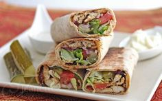 Spiced Shawarma Chicken Wraps Recipe {An Edible Mosaic} - Jeanette's Healthy Living