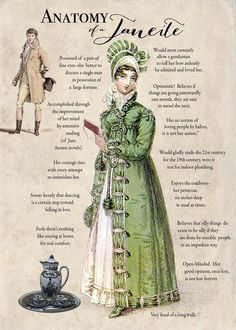 "Happy Birthday, Jane Austen, born 16 December 1775, died 18 July 1817 (via turtledoves etsy shop) ""Anatomy of a Janeite?"
