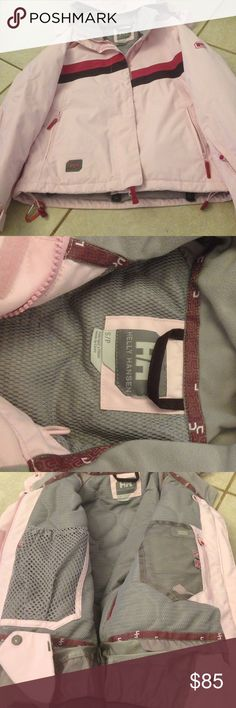 Helly Hansen Tech Snowboard jacket Pink and burgundy jacket, new, has all the extras, matching pants available, goggles pocket, pocket for music and headphones, arm pocket with 🔑 ring, hip skirt Helly Hansen Jackets & Coats