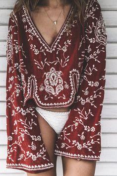 Varadero Cuba l Free People Clothing l Bikini: She Made Me l BOHO l Vintage Free People Blouse l Beach Outfit l Summer l Good Vibes - Collage Vintage Style Outfits, Mode Outfits, Summer Outfits, Beach Outfits, Girl Outfits, Boho Chic, Gypsy Style, Bohemian Style, Bohemian Fashion