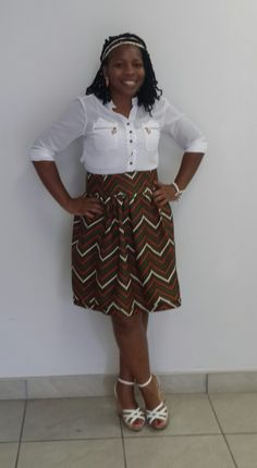 A skirt I made for myself with Mozambican material.