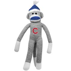 Chicago Cubs 20'' Team Sock Monkey #fanatics my girls would love this!