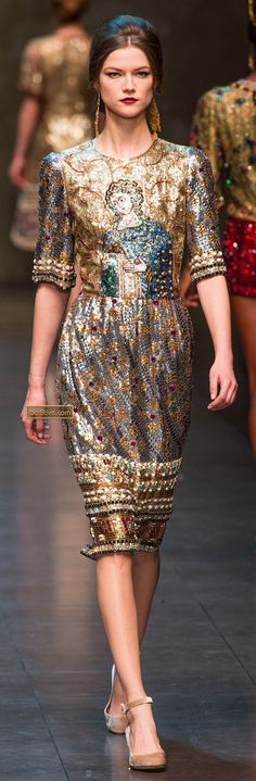 Dolce & Gabanna Fall Winter 2013-14 - The Beaded Dresses are A-maz-ing