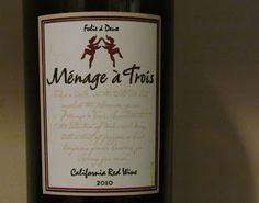 Menage a Trois Wine - California Red A smooth blend with jammy favors. One of my new faves! Cupcake Red Velvet Wine, Red 2010, Wine Names, Make Your Own Wine, Wine Bucket, Pot Still, Alcohol Content, Wine Reviews, Wine Wednesday