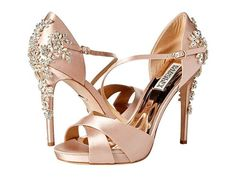 Schuhe Badgley Mischka Fame Ladies's Footwear Delicate Blush Satin Shopping for What You Must Rework Sparkly Wedding Shoes, Wedding Boots, Stilettos, Pumps, High Heels, Fancy Shoes, Me Too Shoes, Best Bridal Shoes, Zapatos Shoes
