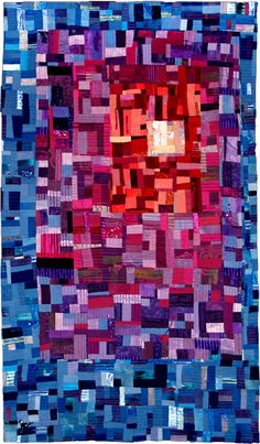 Crystallization by Margaret Pratt. Quilters' Guild of the British Isles. Art Quilt Category - Contemporary Quilt, 2011 Festival of Quilts.