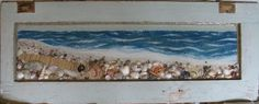 'Orange Beach'  mixed media diorama on recycled door    Steve Zihlavsky