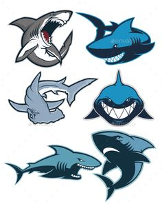 Clipart picture of shark cartoon mascot logo character. Fully customizable in AI and EPS, Also available in JPG and PNG (High Res)