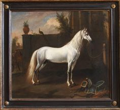 For Sale on - Century Oil Painting of Magnificent Horse 'The Grey Arabian', Oil Paint by Jan Wyck. Offered by Daniel Hunt Fine Art. Animal Painter, Animal Paintings, Art Paintings, Magnificent Beasts, Equestrian Decor, Black Horses, Sports Art, Old Master, Figure Painting