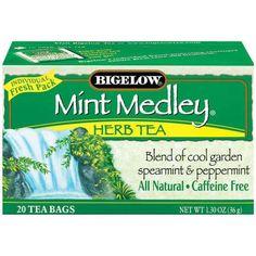Bigelow Caffeine Free Mint Medley Herbal Tea Bags, 20 ct